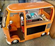 Our Generation Doll Grill To Go Food Truck Van Car 18 American Girl+extra Food