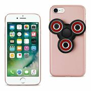 10 Pack - Reiko Iphone 8/ 7 Case With Led Fidget Spinner Clip On In Rose Gold