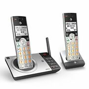 Atandt Dect 6.0 Expandable Cordless Phone With Answering System Silver/black