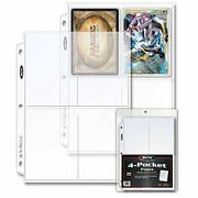 Bcw 4-pocket Pages For Storing Photos Or Postcards | Pocket Size 4 X 5-1/2 |