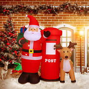 Christmas Decoration Inflatable Claus Mailbox Reindeer Outdoor Indoor Yard 6ft H