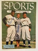 Wow 1955 Sports Illustrated Willie Mays Leo Durocher Autograph Mlb Baseball