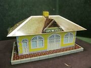 Marx O27 2979 Oak Park Station With Diesel Horn Tin Litho O Scale