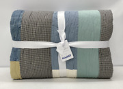 New Pottery Barn Geeand039s Bend - Nellie May Abramand039s Housetop King Quiltblue Multi