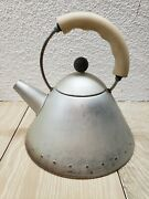 Alessi Tea Kettle Michael Graves Made In Italy Inox 18/10 Matte Finish No Bird
