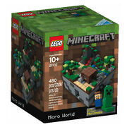 New Lego Minecraft Micro World Set 21102 Forest First Night Sealed 480 Pcs.