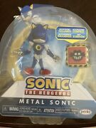 """Metal Sonic 4"""" Figure From Sonic The Hedgehog Jakks 2021 New And Bendable"""