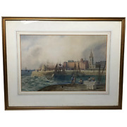 19th Century Victorian Liverpool Maritime Ships St Georgeand039s Basin T Hargreaves