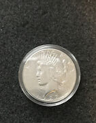 A8 - 1923 Peace Silver Dollar In Capsule Nice Condition