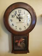 Wild Turkey Whiskey Wood Wall Grandfather Clock, Keeps Great Time..