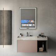 Aquadom Vision, 24 X 32 X 1, Led Lighted Bathroom Mirrors With Built-in Tvs