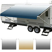 12-20and039 Rv Awning Fabric Vinyl Replacement Heavy Duty For Camper Trailer 8and039 Width