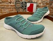 Vionic Mineral Teal Mesh Slip-on Sneaker Mules Maven New Bungee