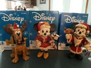 Vintage Holiday Sculpture Mickey Mouse Minnie Mouse And Pluto