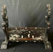Katana Sword Stand Mother Of Pearl Work Gorgeous For 3 Swords Japanese Antique