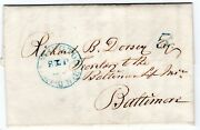 239-r-1 Delaware And Wilmington Rr Railroad Agt Stampless Letter 1849 Rarity 8