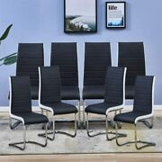 Modern Dining Chairs Set Of 8 Faux Leather Living Room Home Kitchen Side Chairs