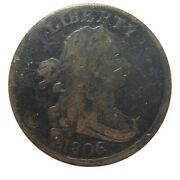Half Cent/penny 1806 Cohen 2 Rarity 4 Coin Small 6 With Stems Solid Mid Grade