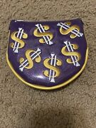 Scotty Cameron Custom Shop Cash Is King Bling Purple Lh Mid Round Headcover