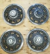 1965 1966 Ford Mustang Hubcaps 14 Inch Spoke 4 Total