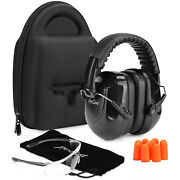 Procase Shooting Ear Protection Earmuffs, Gun Safety Glasses And Soft Earplugs