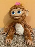 Furreal Friends Cuddles My Giggly Monkey Large Interactive Pet Hasbro 2012 Works