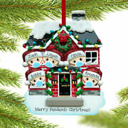 Personalized Pandemic Family Of 5 C Ornament