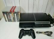 Sony Playstation 3 Ps3 Fat 80gb Console Bundle Lot 13 Games Tested Cech-l01
