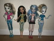 Monster High Dolls Dead Tired Lot Frankie Stein, Cleo, Ghoulia And Lagoona