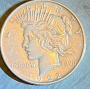 1922 P Liberty Peace Silver One Dollar Coin