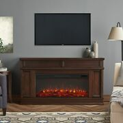 Realflame Torrey Infrared Fireplace With Electric Extra Long Firebox Dk Walnut