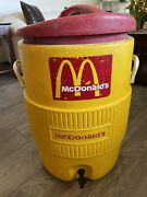 Vintage Mcdonald's Brand - Igloo - Commercial 10 Gallon Drinking Water Cooler