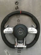 Mercedes Amg Steering Wheel -red- For All Pre-facelift Models With Adapter