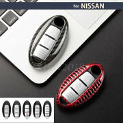 Carbon Fiber Remote Smart Key Fob Cover Case Shell Fit For Nissan Accessories