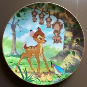 Complete Set Of Vintage Disney Collector Plates - Bambi, First Edition, Mint