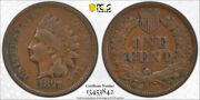1877 1c Indian Head Cent Pcgs Vf 25 Very Fine + Key Date Cac Approved