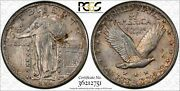 1924 S Standing Liberty Quarter 25c Pcgs Certified Ms 63 Mint State Unc 751