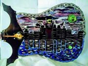 Mixed Media Mosaic Guitars, Violins, wall Art, Stained Glass, Repurposed.
