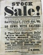 Stock / Sale / I Will Offer For Sale At Public Auction At The Farm Of L.c 1888