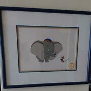 Disney Dumbo Animation Cel Art W. Frame Limited Edition Serigraph W. Certificate