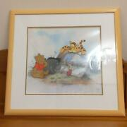 Disney Winnie The Pooh And Storytime Too Animation Cel Art Frame And Certificate