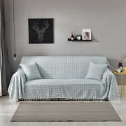 Dustproof Covers Solid Plaid Cotton Linen Sofa Towels Slipcovers Polyester Seat