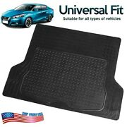Heavy Duty Cargo Trunk Floor Mat Pvc Liner For Car Suv Truck All Weather Black