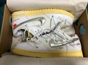 Off-white Andtimes Nike Dunk Low 1 Of 50 White 1 Lot 1 Menandrsquos Size 5 - 12 Dm1602-127