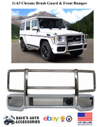Aftermarket G63 Front Bumper And Chrome Grille Brush Guard G Class G Wagon Amg G65