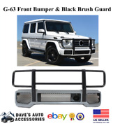 Aftermarket G63 Front Bumper And Black Front Bumper Grille Brush Guard Fit G Wagon