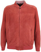 Paul And Shark Yachting Menand039s Goat Leather Jacket Blouson Perforated Size 4xl