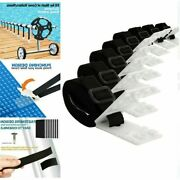 Pool Solar Cover Reel Attachment Kit Straps Blanket Universal In Ground Swimming