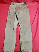 Us Army Military Brown Heavy Wt. Polypro Long Underwear Bottom Pants Large