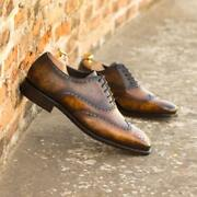 The Hand Patina Full Brogue Model 4653 From Robert August W/ Shoe Trees Included